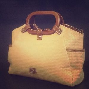 RELIC Faux Straw Convertible Crossbody Handbag